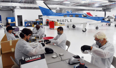 Piper Aircraft Producing Protective Gear for Hospital Personnel